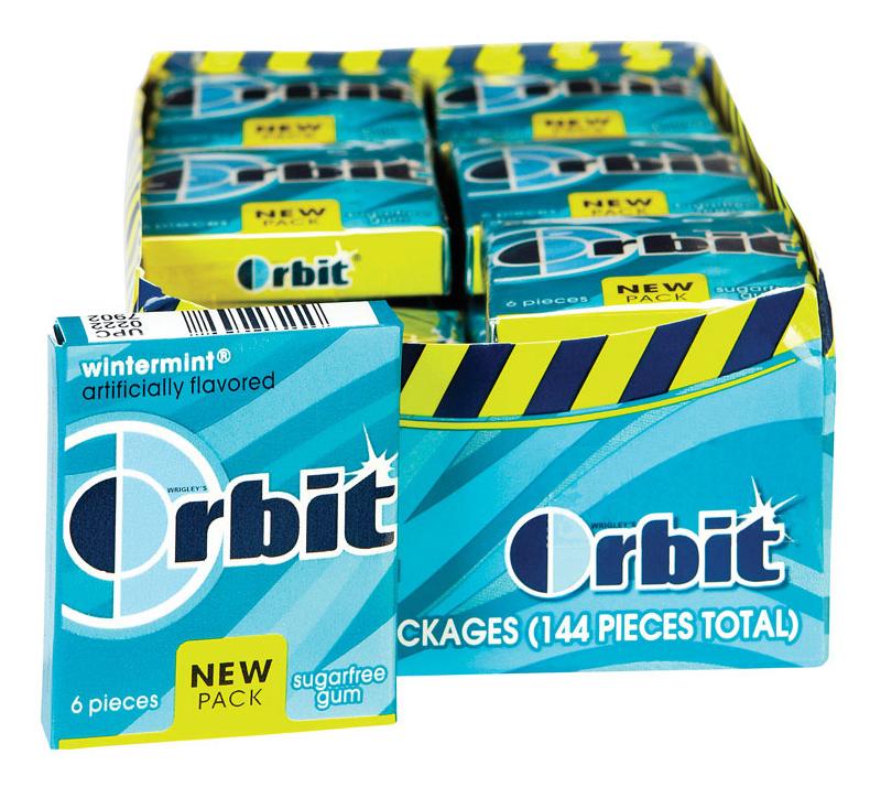Wrigley Orbit Wintermint Sugarfree Gum, 24 Minipacks