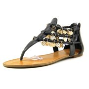 Jessica Simpson Geisela Women  Open Toe Leather Black Gladiator Sandal