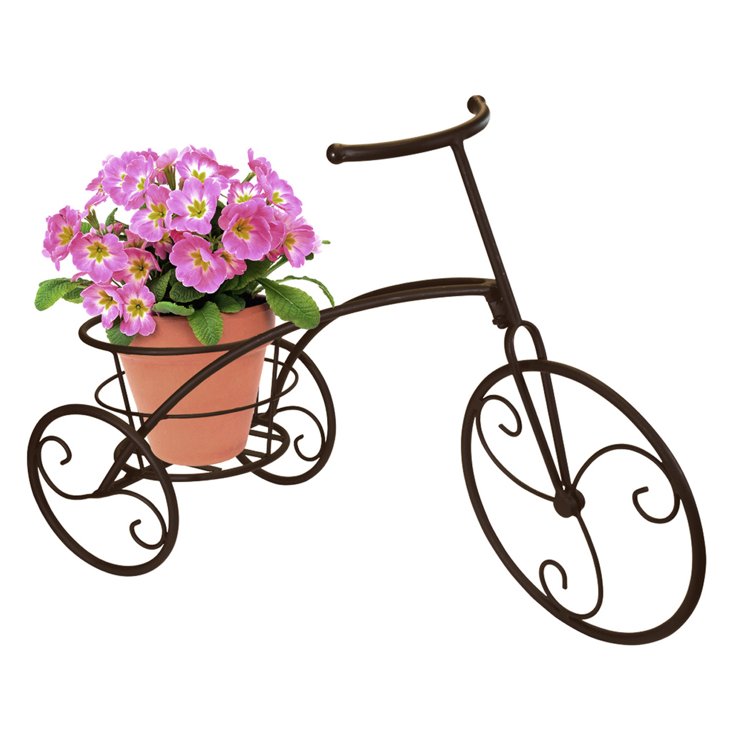 Sorbus Tricycle Plant Stand, Flower Pot Cart Holder, Single Pot by GGI International
