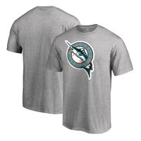 Florida Marlins Fanatics Branded Cooperstown Collection Vintage Huntington T-Shirt - Heathered Gray