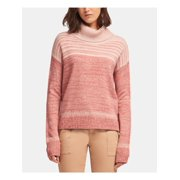 DKNY Womens Pink Marled Striped Long Sleeve Cowl Neck Sweater  Size: XL
