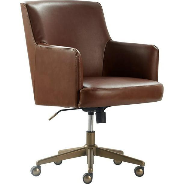 Tommy Hilfiger Belmont Home Office Chair Brown Leather Walmart Com Walmart Com