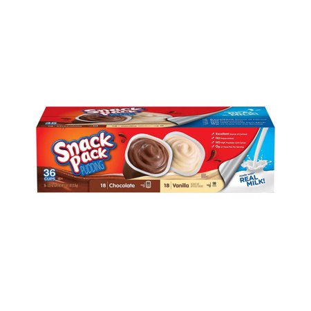 Product Of Snack Pack Pudding Variety Pack (3.25 Oz., 36 Pk.) - For Vending Machine, Schools , parties, Retail