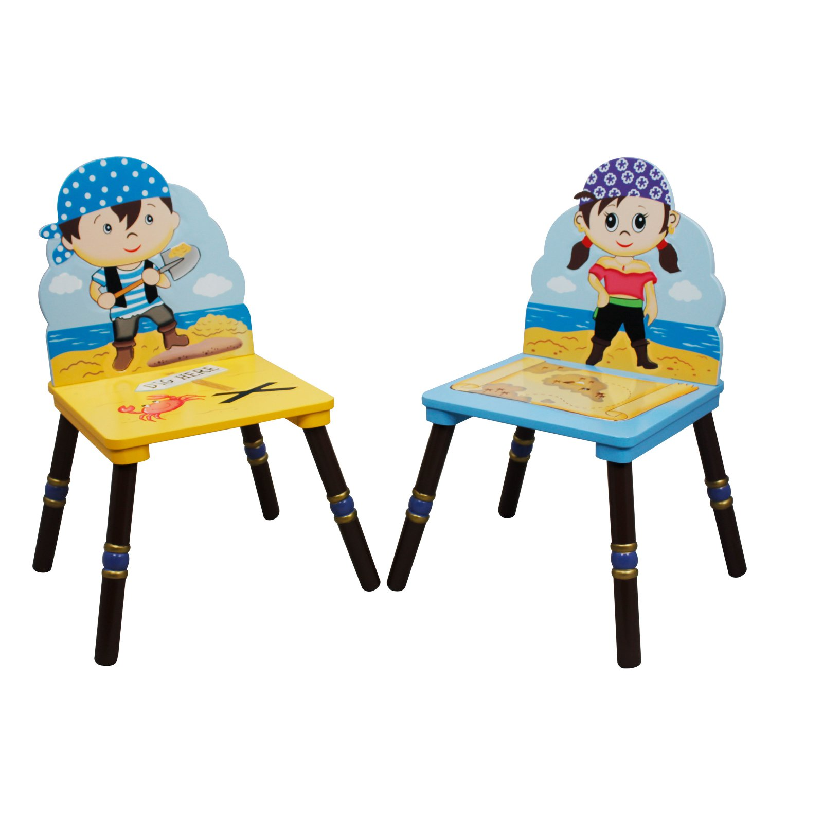 Fantasy Fields Pirates Island Set of 2 Chairs, B