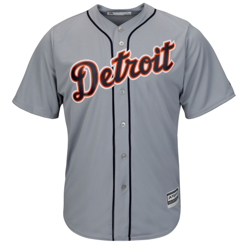 Detroit Tigers Majestic Official Cool Base Team Jersey - Gray