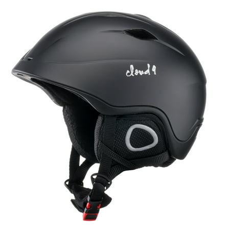 Cloud 9 - Premium Polycarbonate Shell (Not Plastic) High Impact Resistance Adult Matte Color Outdoor Snow/Sport Biking Snowboarding Ski Helmet Light Weight Adjustable Fit System