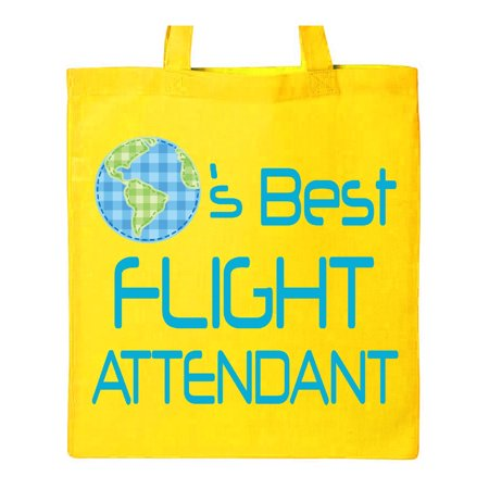 Flight Attendant Planets Best Tote Bag Yellow One