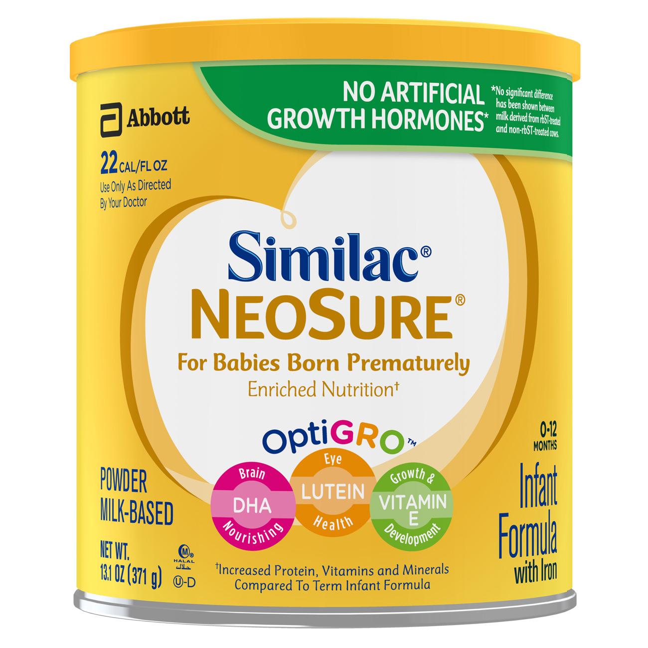 Similac NeoSure Infant Formula with Iron, For Babies Born Prematurely, Powder, 13.1 oz