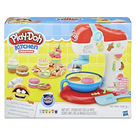 Play-Doh Kitchen Creations Spinning Treats Mixer Food Set with 5 Cans of Dough - Ninja Turtle Play Doh