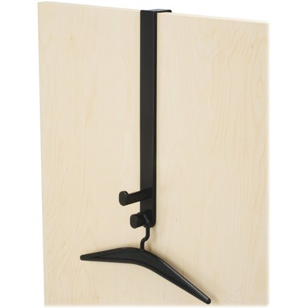 Safco Double Over-The-Door Hook with Hangers, Black, 1 Each (Quantity)
