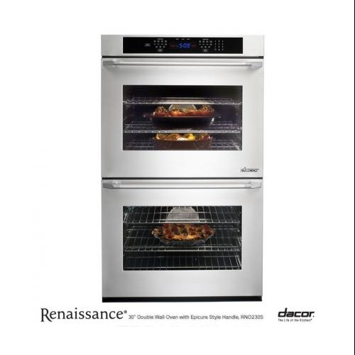 "Dacor  Renaissance Series RNO230S 30"" Double Electric Self-Cleaning Convection Wall Oven with 4.8 cu. ft. Capacity"