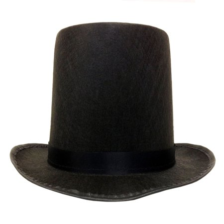 3208b55a0 Black Felt Tall Stovepipe Hat