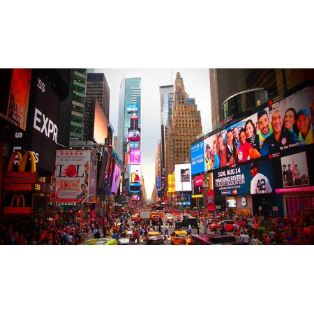 LAMINATED POSTER New York Jam Time Square Sightseeing Poster Print 24 x