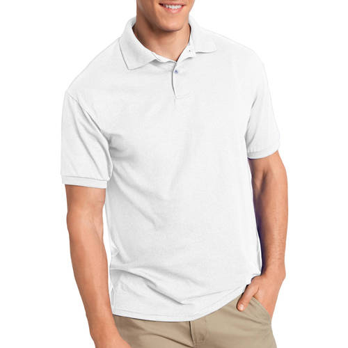 Hanes Men's EcoSmart Short Sleeve Jersey Golf Shirt