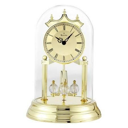 50th Anniversary Clocks - Bulova Tristan Brass Anniversary Clock