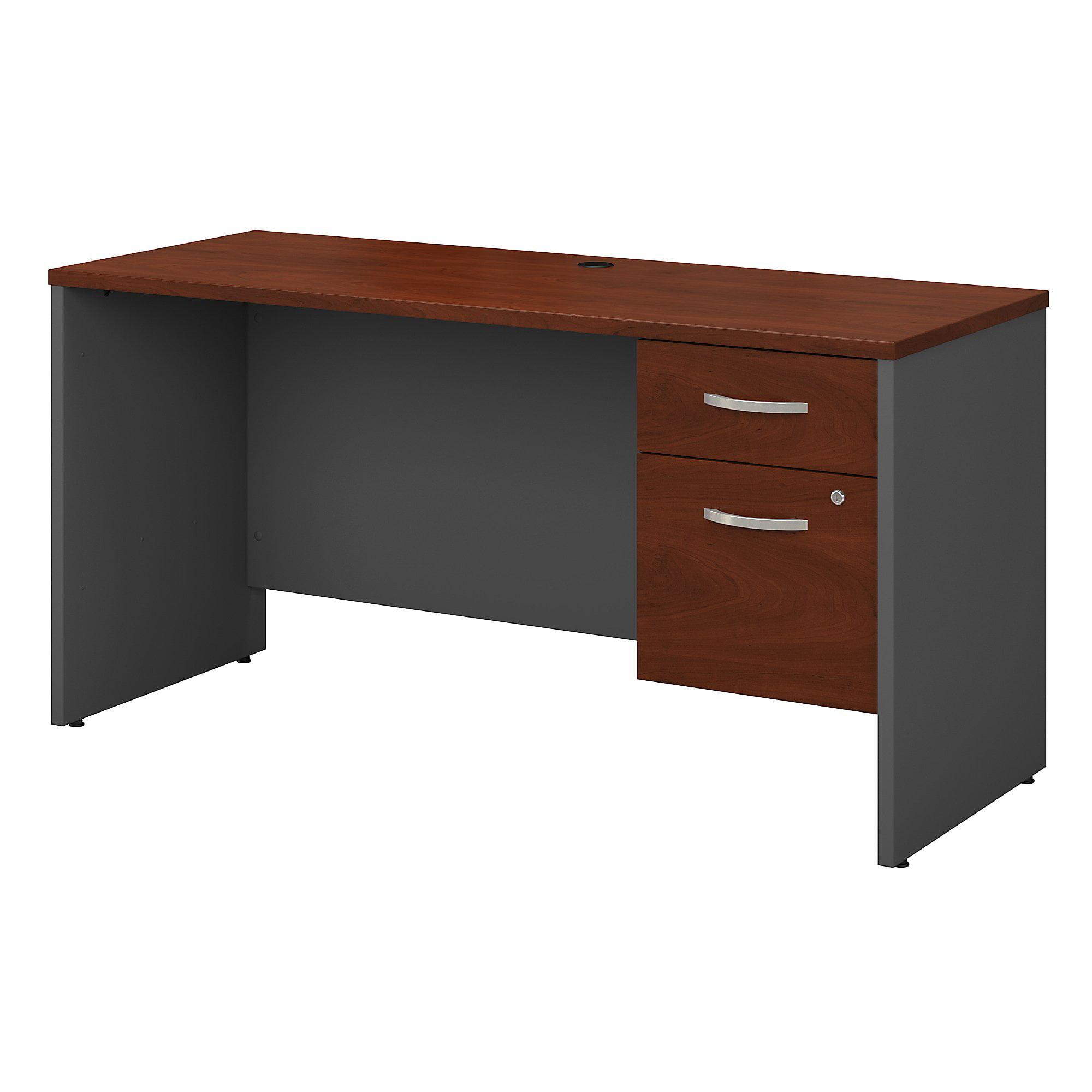 Series c returns bundles 155 lbs weight capacity engineered wood 60 w x 24 d credenza desk shell with 3 4 pedestal walmart com