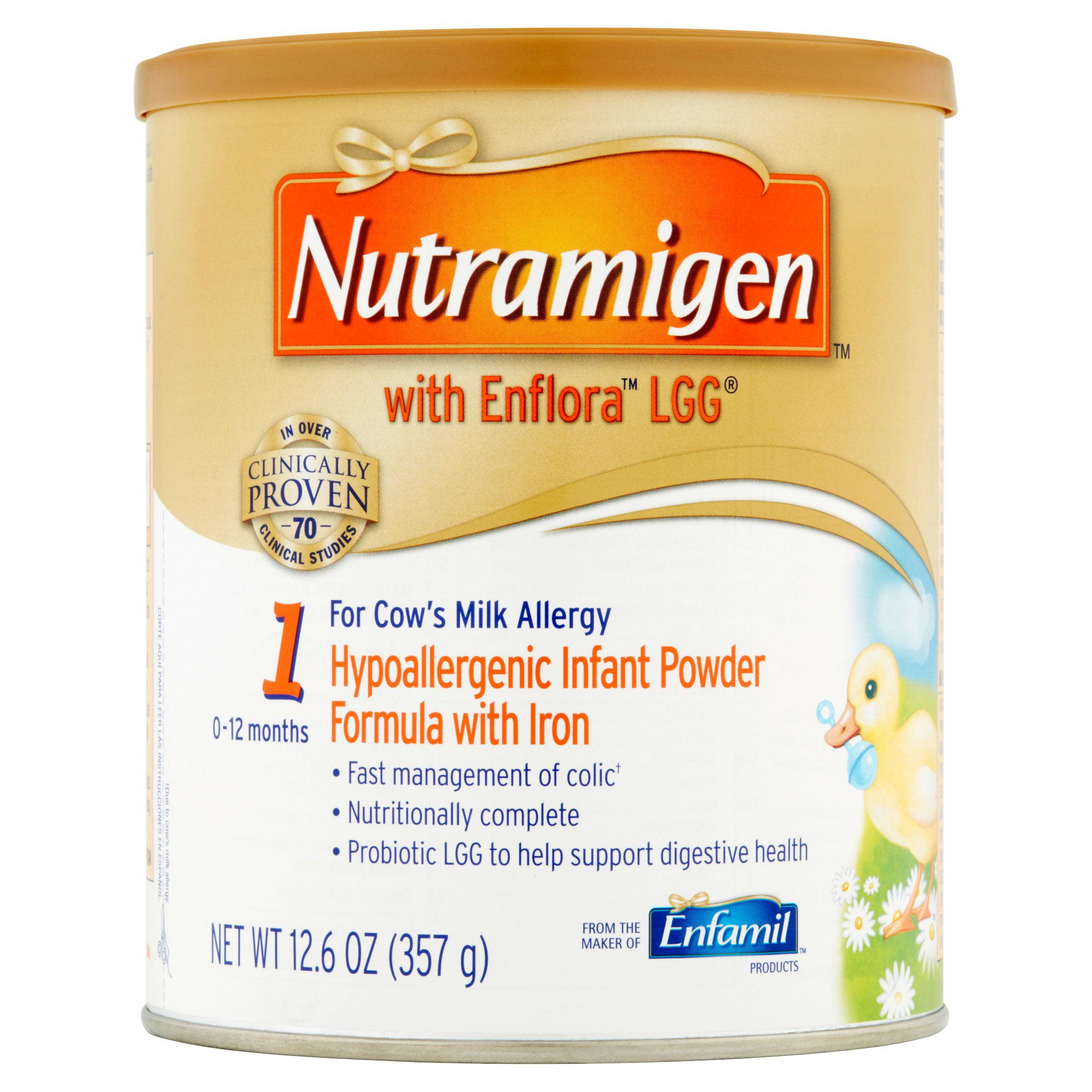 Nutramigen w  Enflora LGG Hypoallergenic (6 Pack) Baby Formula, Powder, 12.6 oz Cans by Enfamil