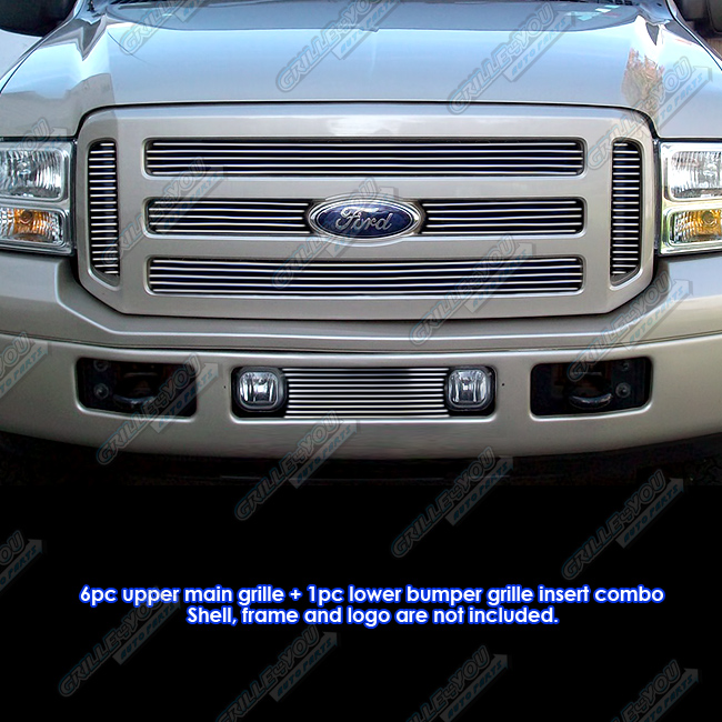 Fits 05-07 Ford F-250/F-350 Super Duty Billet Grille Combo #F67881A