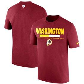 c2a16a07cb7 Washington Redskins Nike Sideline Legend Staff Performance T-Shirt -  Burgundy