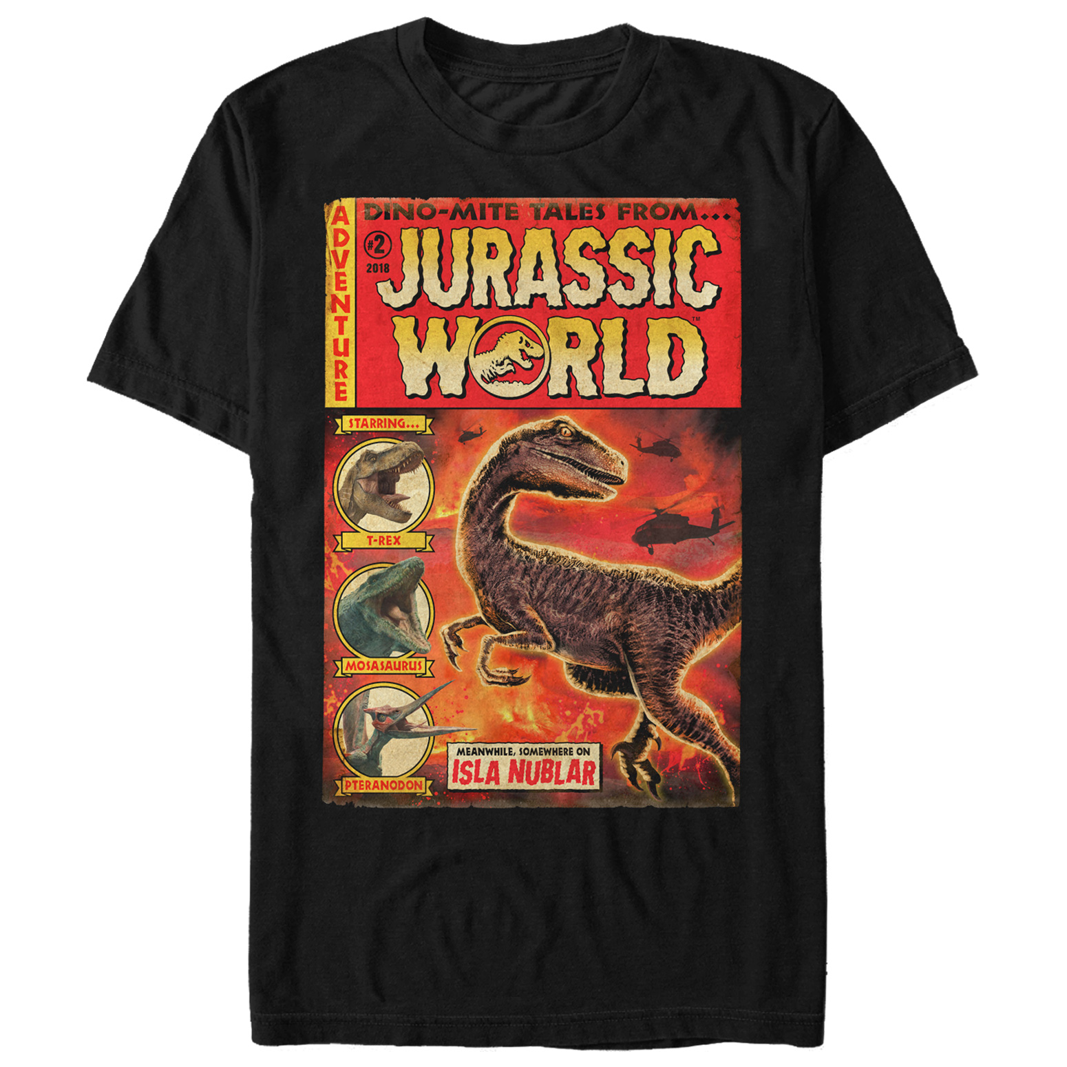 Jurassic World: Fallen Kingdom Men's Dino-Mite Tales T-Shirt