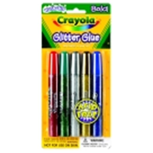 Crayola Non-Toxic Washable Glitter Glue - Assorted Color, Pack 5