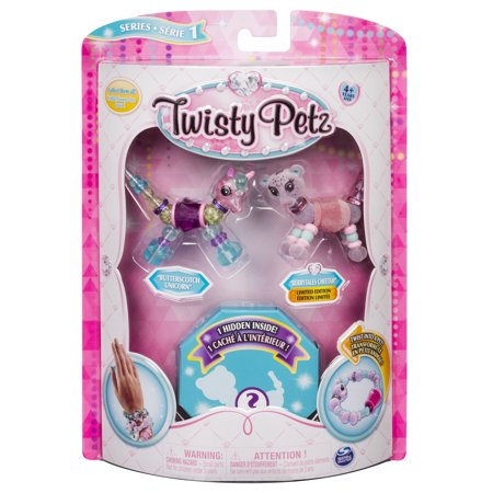 Twisty Petz - 3-Pack - Butterscotch Unicorn, Berry Tales Cheetah and Surprise Collectible Bracelet Set for Kids