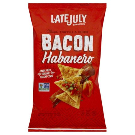- Late July Bacon Habanero Clasico Tortilla Chips, 5.5 Oz (Pack of 12)