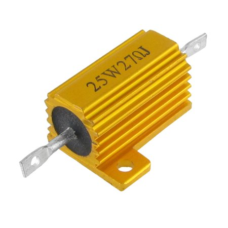 Ohm 25 Watt Wirewound Resistor - Chassis Mounted 25 Watt Power Aluminum Housed Wirewound Resistor 27 Ohm