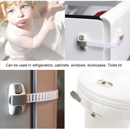 Yosoo Multi Function Adjustable Safety Lock Keep Baby Safe for Drawer Cabinet Fridge Door, Drawer Baby Lock, Safety Baby Lock - image 6 of 8
