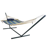 Blue Wave Island Retreat Hammock Set - Blue Cover