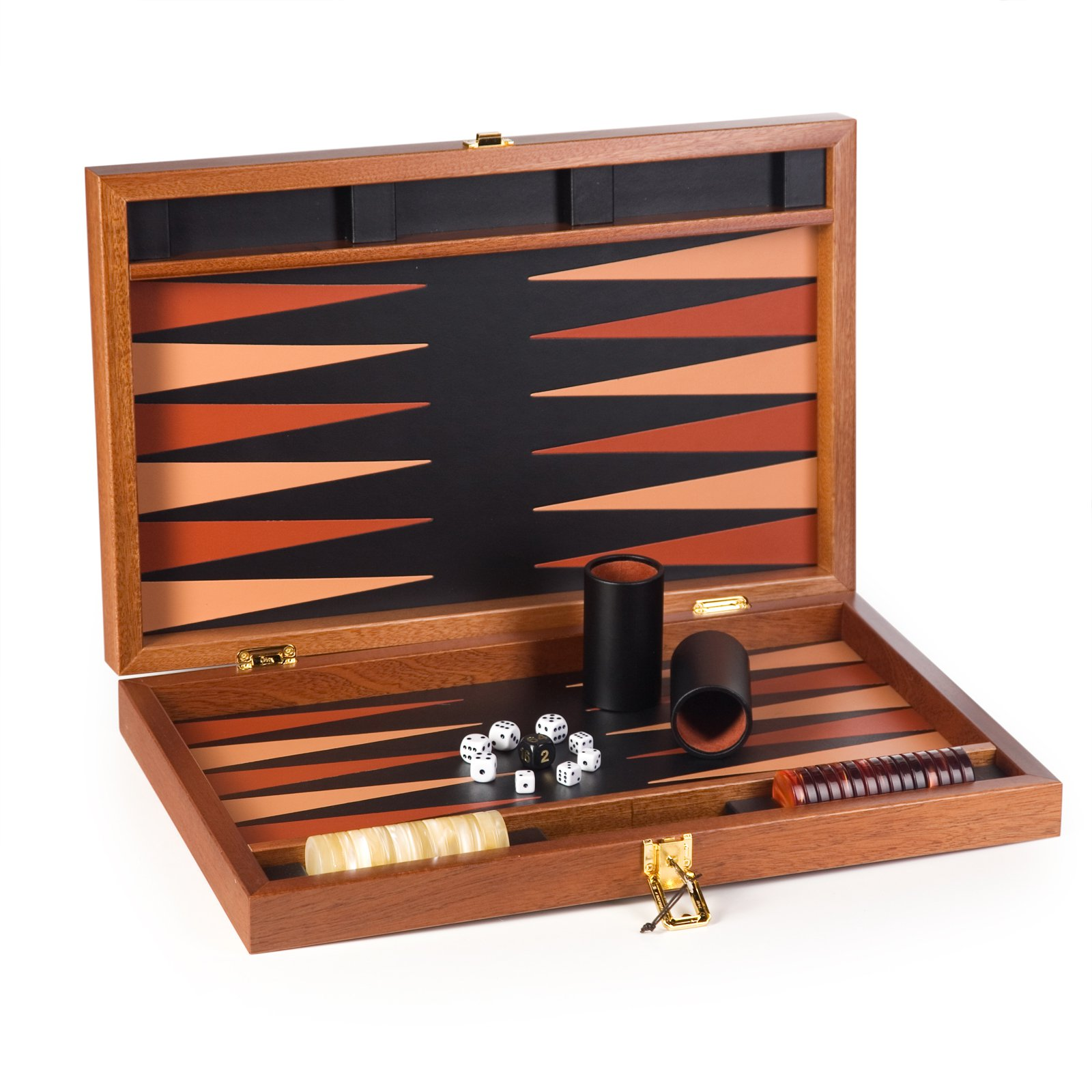 20in Walnut Tournament Backgammon Set by Cambor Games