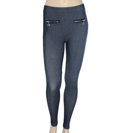 Denim Style Leggings in Stretch Fibers -