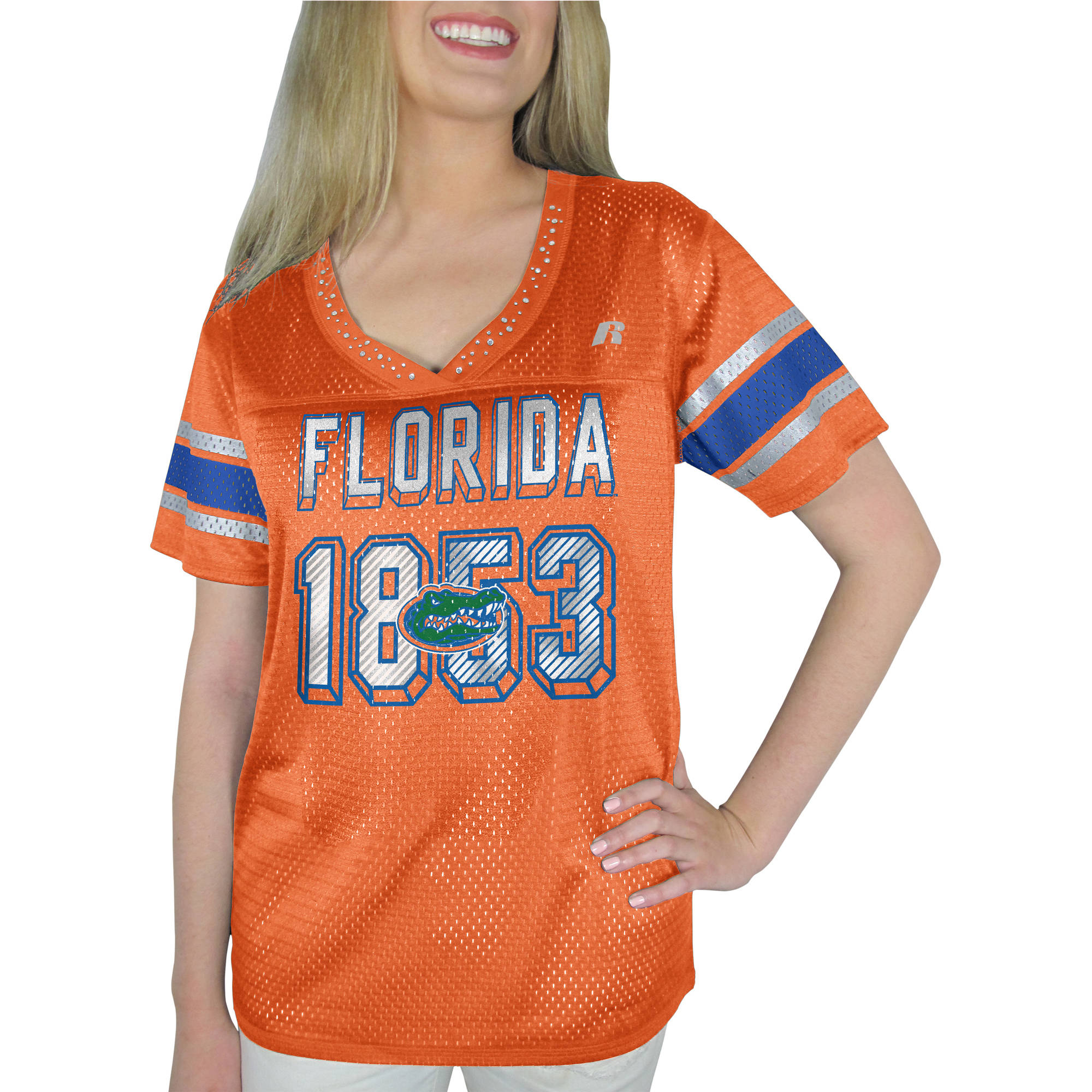 Russell NCAA Florida Gators , Women's Heather V-neck Game Jersey