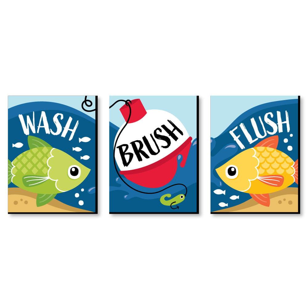 Let S Go Fishing Fish Themed Kids, Fishing Themed Bathroom Decor