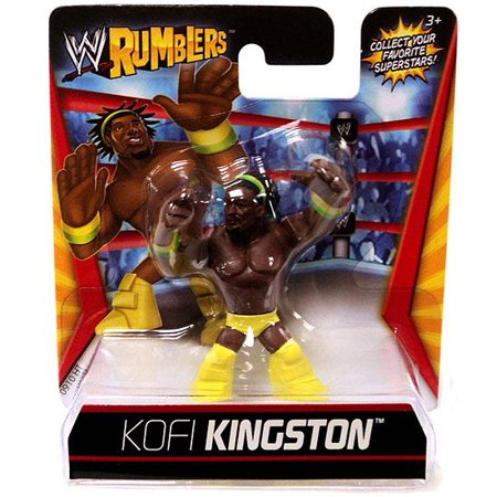 WWE Wrestling Rumblers Series 1 Kofi Kingston Mini Figure [Yellow - Wwe Outfits