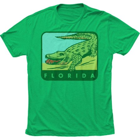 Florida Smiling Gator Apparel T-Shirt - Green