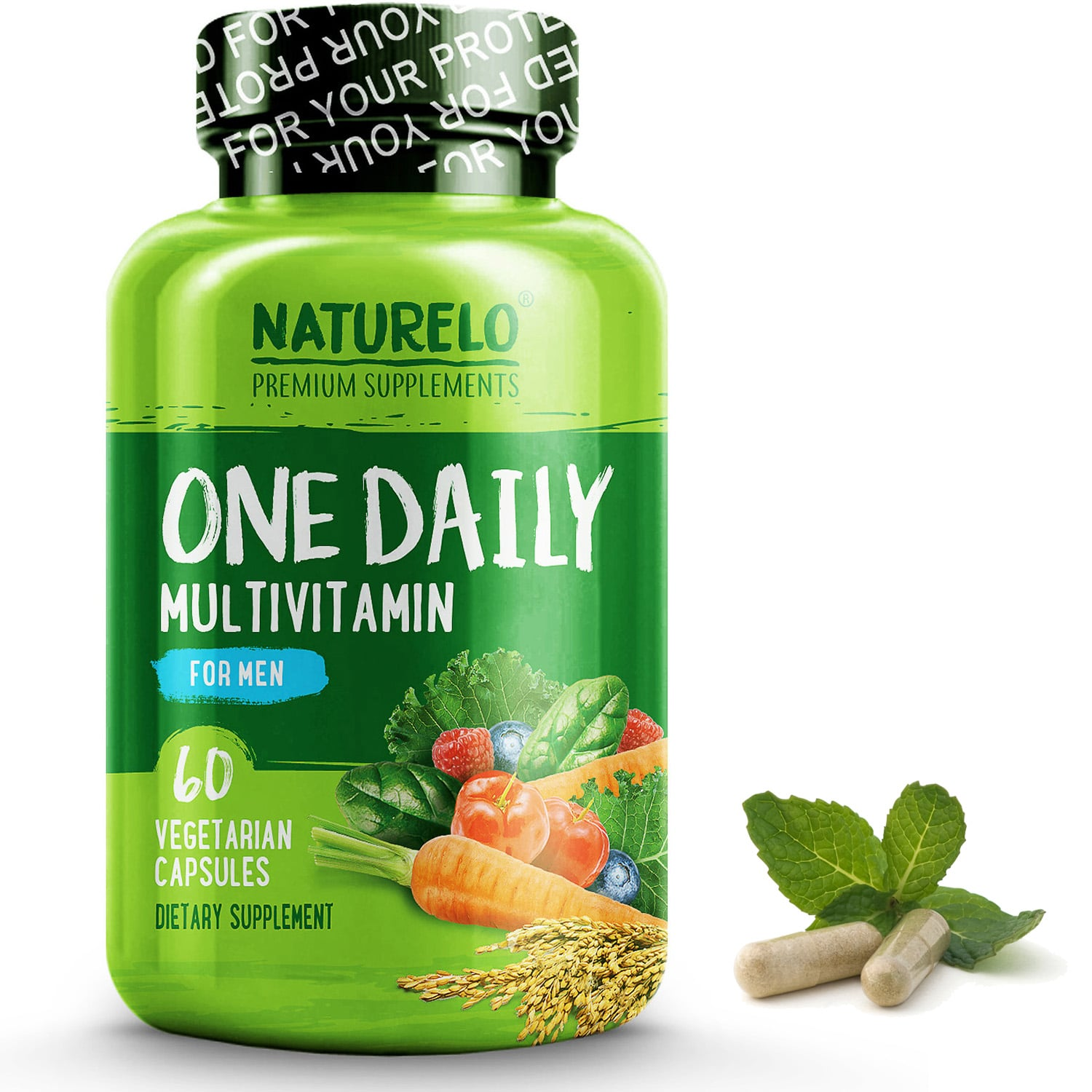 One Daily Multivitamin for Men - 60 Capsules   2 Month Supply