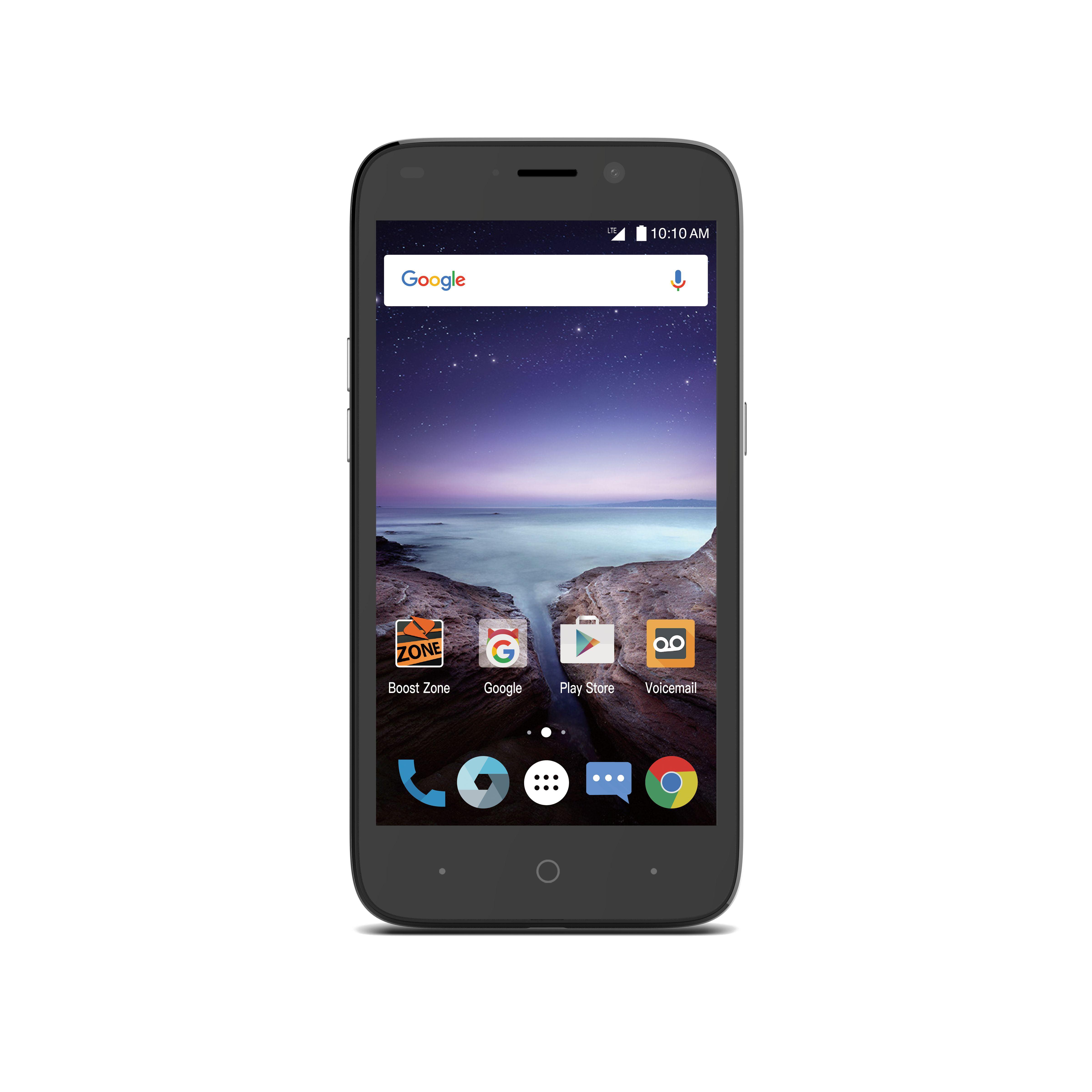 Boost Mobile ZTE Prestige 2 16GB Prepaid Smartphone, Black