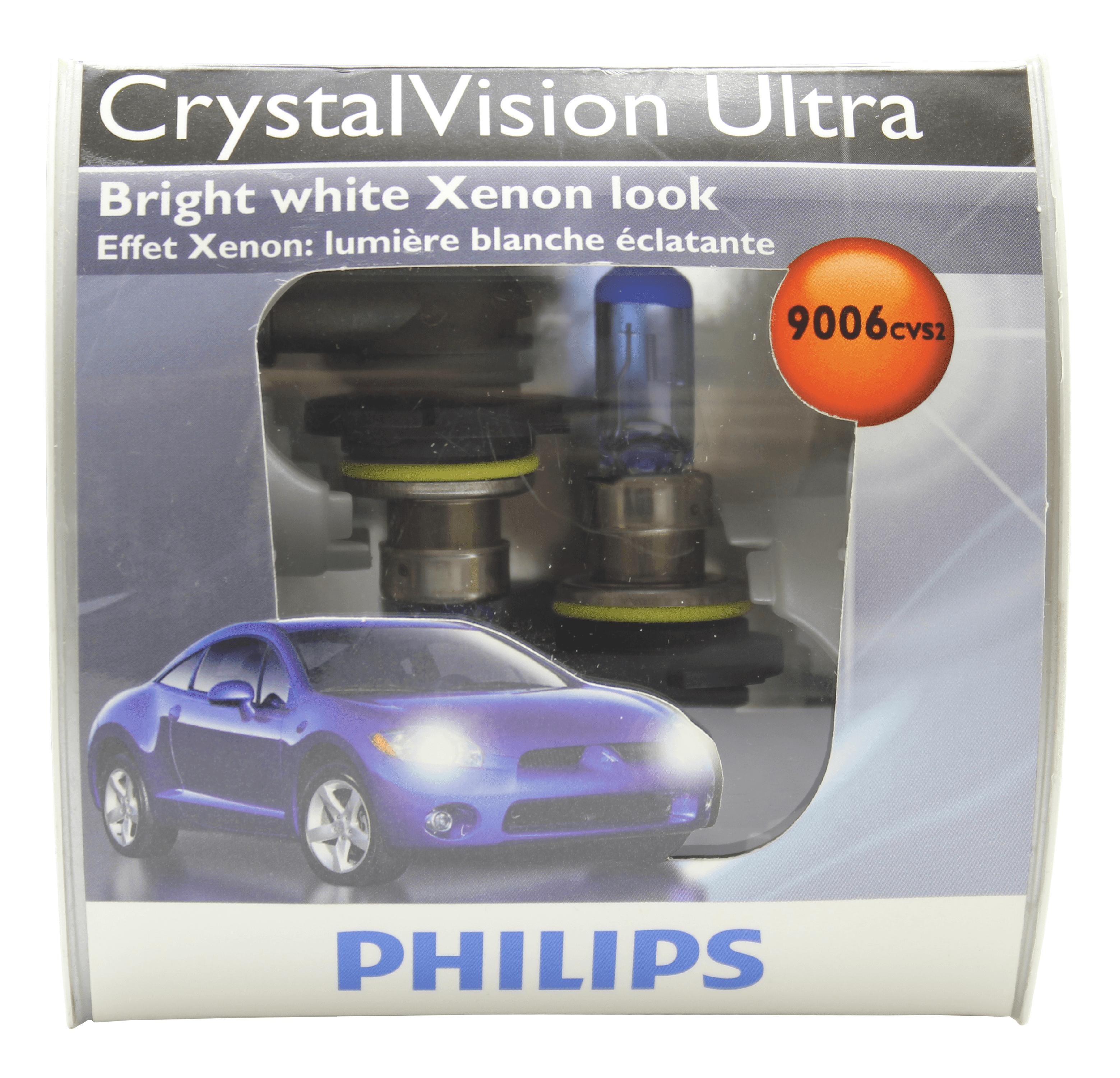 Philips 9006 HB4 - Blue Tint Crystal Vision Ultra Low Beam headlight - 2 Bulbs