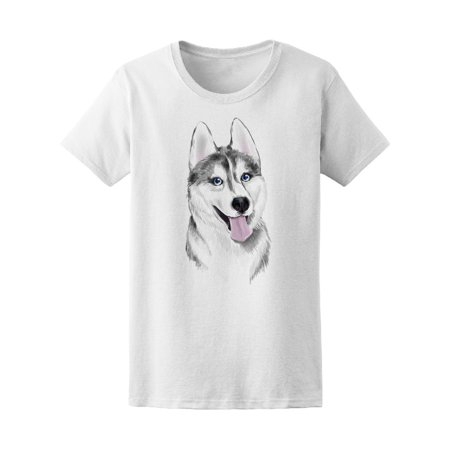 Blue Eyed Husky Tee Men's -Image by Shutterstock (White Husky With Blue Eyes For Sale)