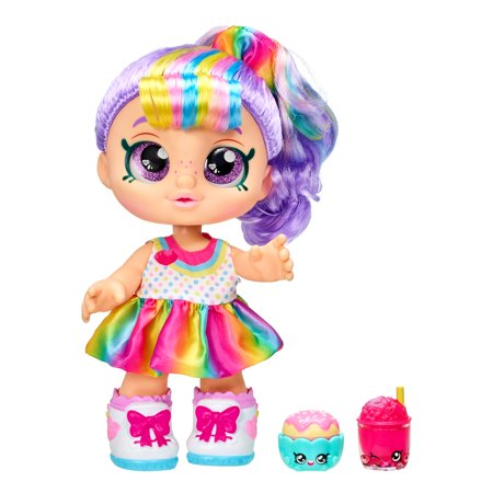 "Kindi Kids Snack Time Friends, Rainbow Kate, Pre-School 10"" Doll"