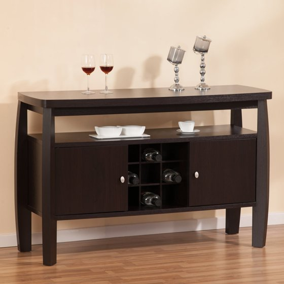 furniture of america nova dining buffet table with 9