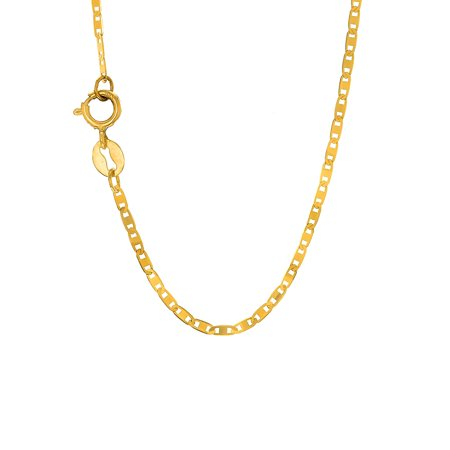 - 14k Solid Yellow Gold 1.2mm Mariner Chain Necklace Clasp - 16 18 20