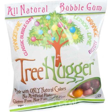 Tree Hugger All Natural Bubble Gum Tangerine  Classic Bubble Gum  Lemon Lime  Orange  Berry  2 0 Oz