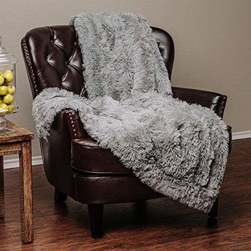 Chanasya Super Soft Long Shaggy Chic Fuzzy Fur Faux Fur Warm Elegant Cozy With Fluffy Sherpa Tan Blue Gray... by PurchaseCorner