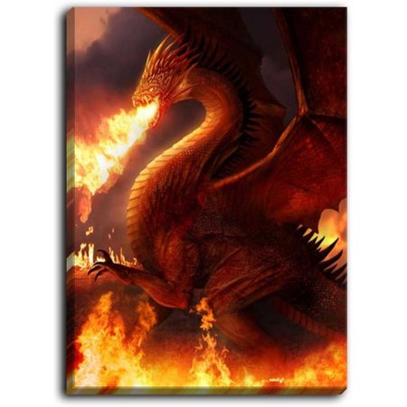 - DiaNoche Designs 'Lord of the Dragons' by Philip Straub Painting Print on Wrapped Canvas