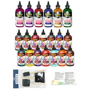 Unicorn Spit 8oz 20-Pack All Original Colors and New Sparkling Colors, Pixiss Brushes and Exclusive Guide