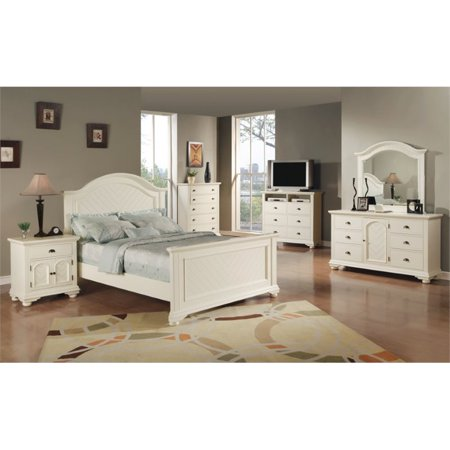 Picket House Furnishings Addison 4 Piece Queen Bedroom Set in White