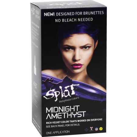 Splat Hair Color Complete Kit Midnight Amethyst 1 0 Lication Pack Of 4