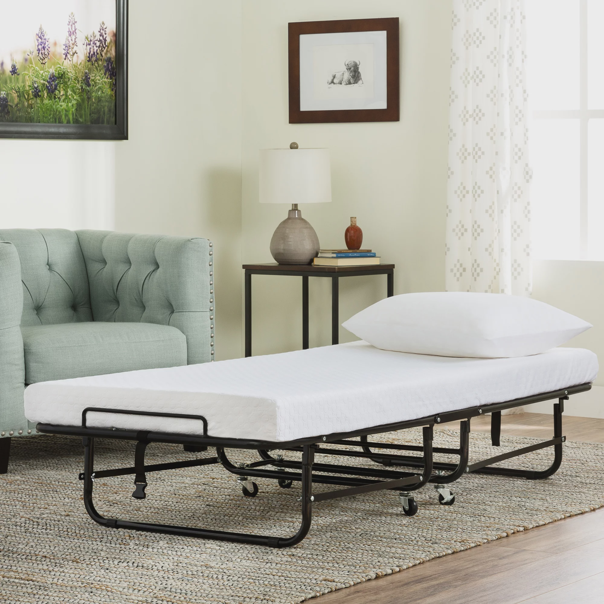 Better Homes And Garden Rollaway Guest Bed With Memory Foam Mattress Ebay